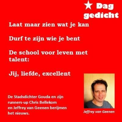 """Felicitaties van @ccknars aan alle leerlingen en al het personeel van @Aurisgroep Taalplein, @Casimirschool en GSG Het Segment met hun welverdiende predicaat """"Excellente school""""! #daggedicht"""